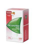 Nicorette 2 Mg Gomme à Mâcher Médicamenteuse Sans Sucre Fruits Plq/105 à TOURCOING