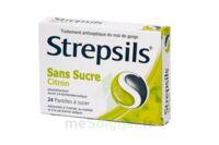 Strepsils Citron Sans Sucre, Pastille édulcorée à L'isomalt, Au Maltitol Et à La Saccharine Sodique à TOURCOING