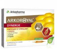 Arkoroyal Dynergie Ginseng Gelée Royale Propolis Solution Buvable 20 Ampoules/10ml à TOURCOING