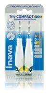 Inava Brossettes Tri Compact étroit  012 Noir 0,6mm/ Bleu 0,8mm/ Jaune 1mm à TOURCOING