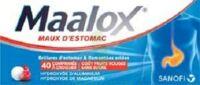 Maalox Maux D'estomac Hydroxyde D'aluminium/hydroxyde De Magnesium 400 Mg/400 Mg Sans Sucre Fruits Rouges, Comprimé à Croquer édulcoré à La Saccharine Sodique, Au Sorbitol Et Au Maltitol à TOURCOING