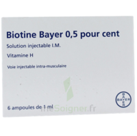 Biotine Bayer 0,5 Pour Cent, Solution Injectable I.m. à TOURCOING