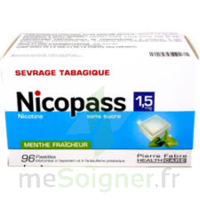 Nicopass 1,5 Mg Pastille Sans Sucre Menthe Fraîcheur Plq/96 à TOURCOING