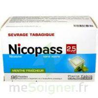Nicopass 2,5 Mg Pastille Menthe Fraîcheur Sans Sucre Plq/96 à TOURCOING