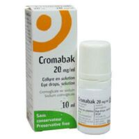 Cromabak 20 Mg/ml, Collyre En Solution à TOURCOING