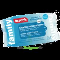 Assanis Family Lingette Antibactérien Mains Pochette/64 à TOURCOING