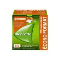 Nicorette 2 Mg Gomme à Mâcher Médicamenteuse Sans Sucre Fruits Plq/210 à TOURCOING