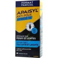Apaisyl Anti-poux Xpress 15' Lotion Antipoux Et Lente 100ml+peigne à TOURCOING