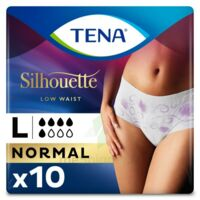 Tena Lady Silhouette Slip Absorbant Blanc Normal Large Paquet/10 à TOURCOING