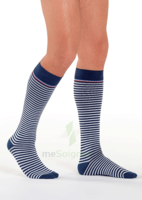 Sigvaris Styles Motifs Mariniere Chaussettes  Homme Classe 2 Marine Blanc Small Normal à TOURCOING